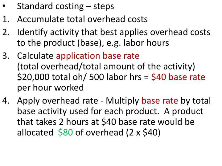 Standard costing – steps