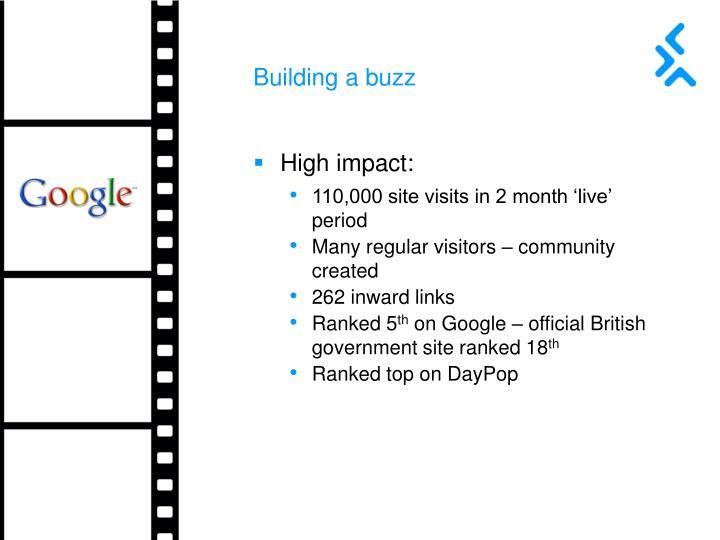 Building a buzz