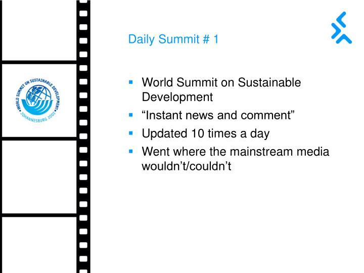 Daily Summit # 1
