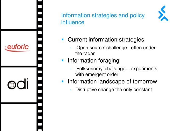 Information strategies and policy influence