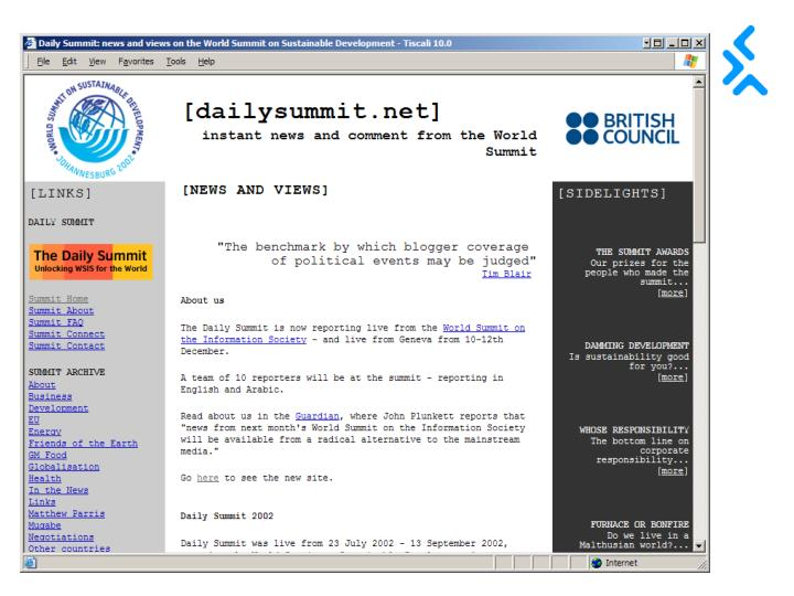 Screen grab of dailysummit 1