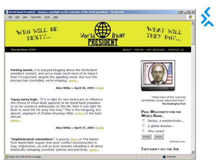 Screen grab of WBP