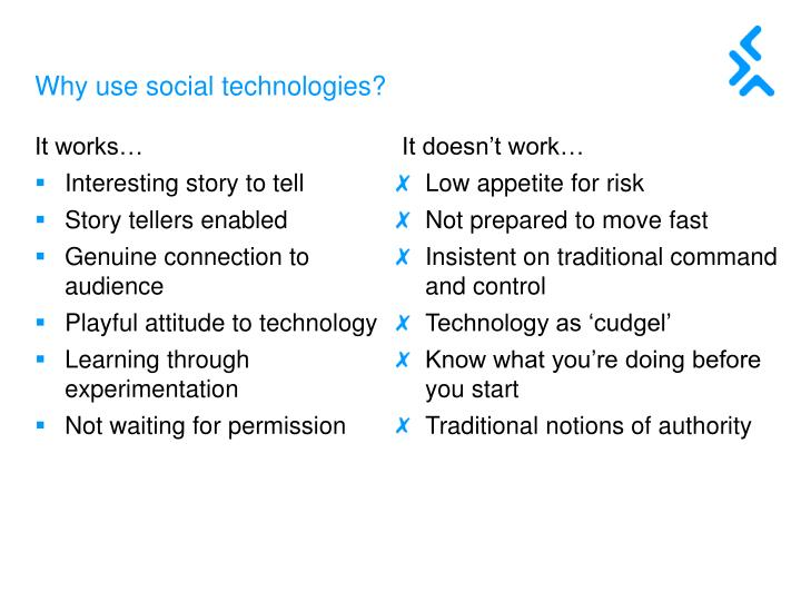 Why use social technologies?