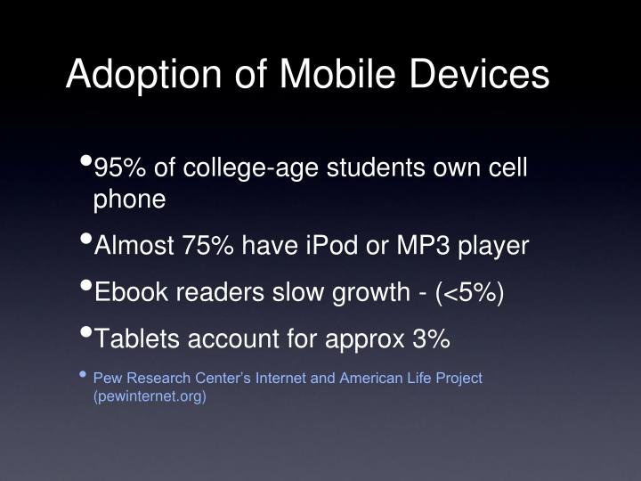 Adoption of Mobile Devices