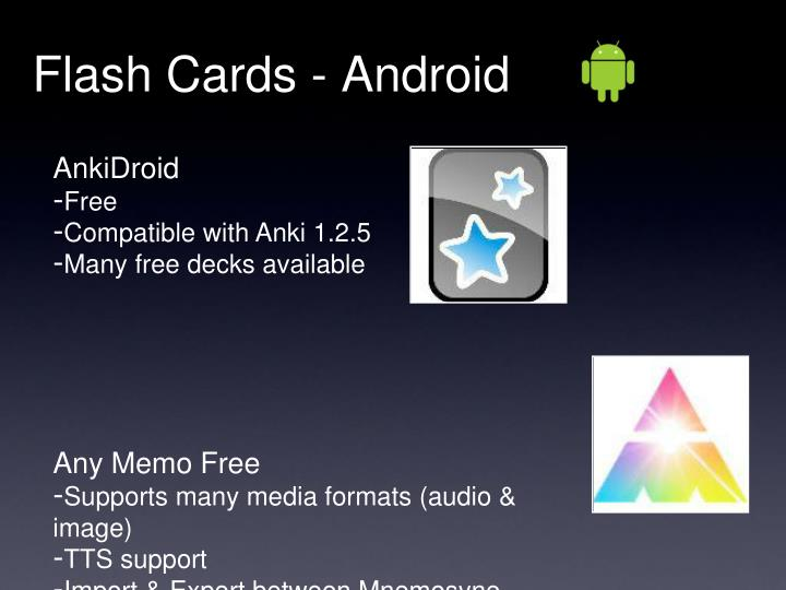 Flash Cards - Android