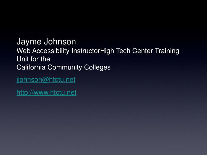 Jayme Johnson