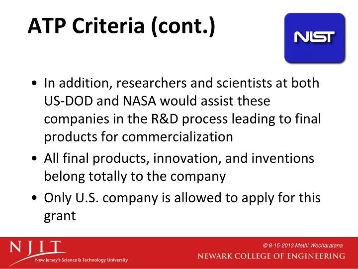 ATP Criteria (cont.)