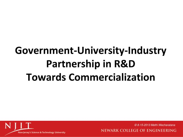 Government-University-Industry Partnership in R&D