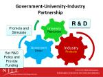 government university industry partnership