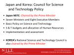 japan and korea council for science and technology policy