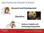 key factors for growth of korea
