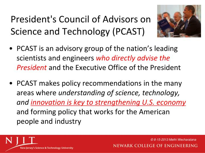President's Council of Advisors on Science and Technology (PCAST)