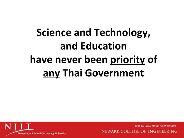 Science and Technology,