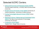 selected iucrc centers