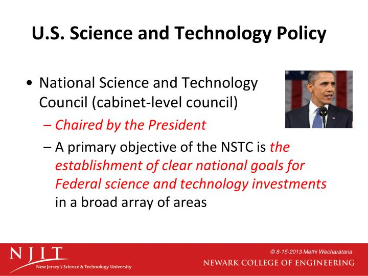 U.S. Science and Technology Policy