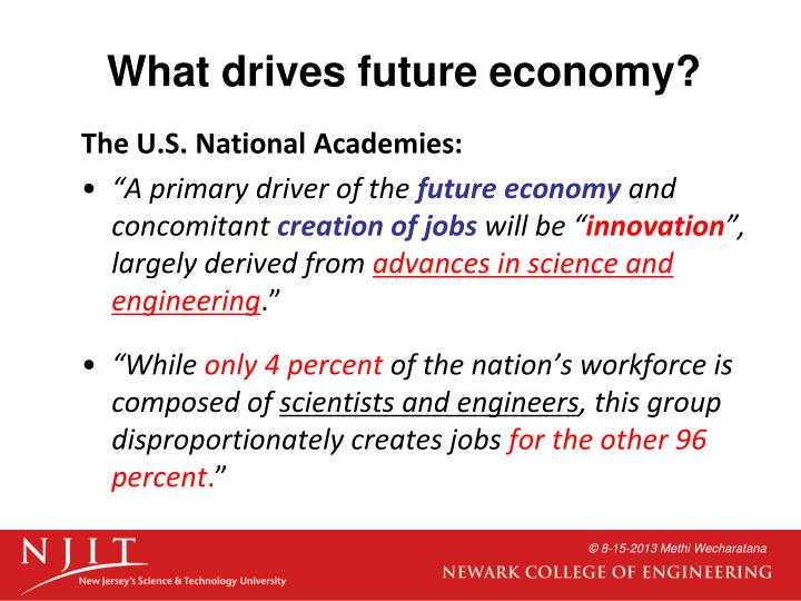 What drives future economy?