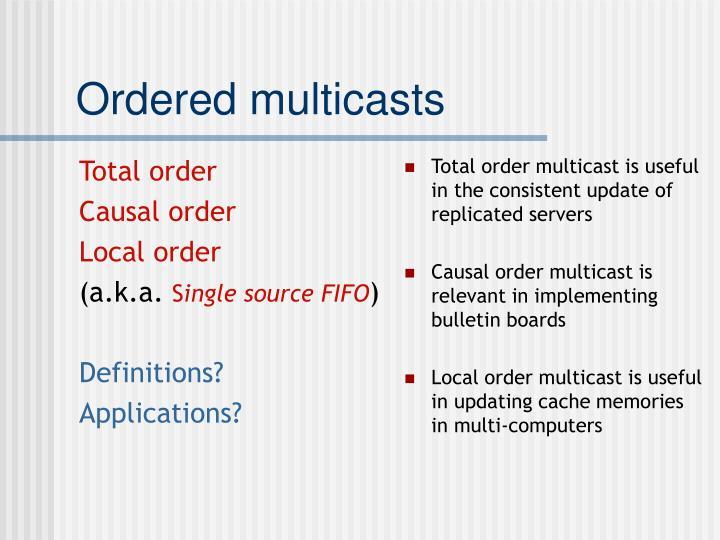 Total order
