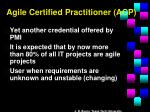 agile certified practitioner acp