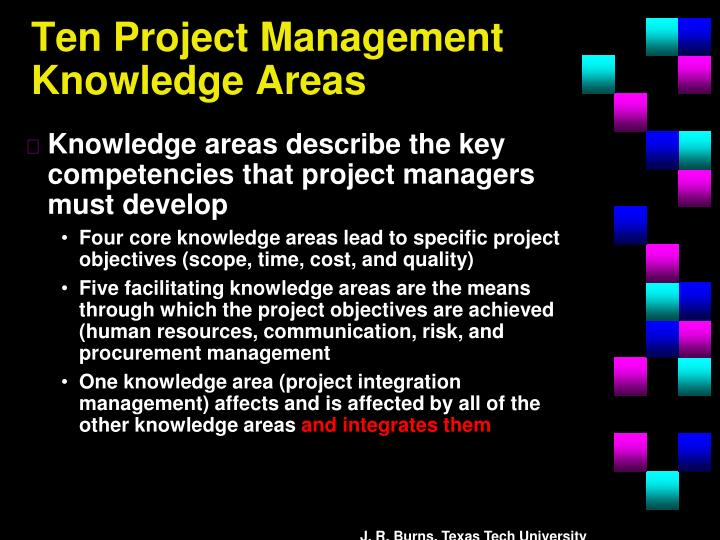 Ten Project Management Knowledge Areas