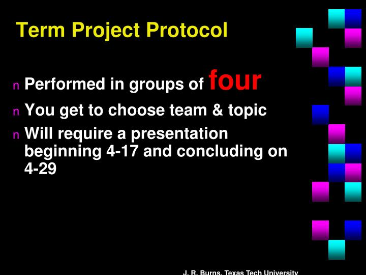 Term Project Protocol