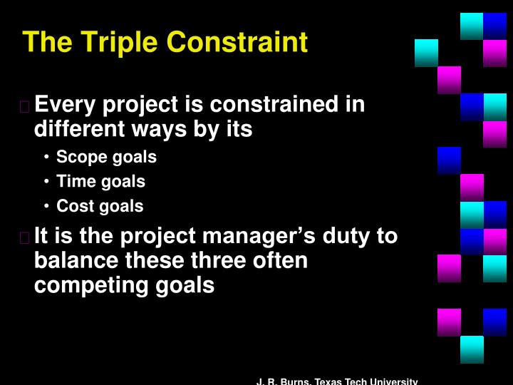 The Triple Constraint