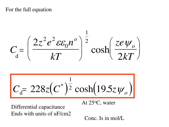 For the full equation