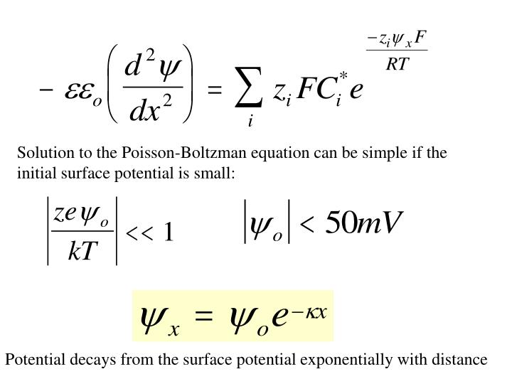 Solution to the Poisson-Boltzman equation can be simple if the