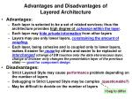 advantages and disadvantages of layered architecture