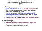 advantages and disadvantages of mvc