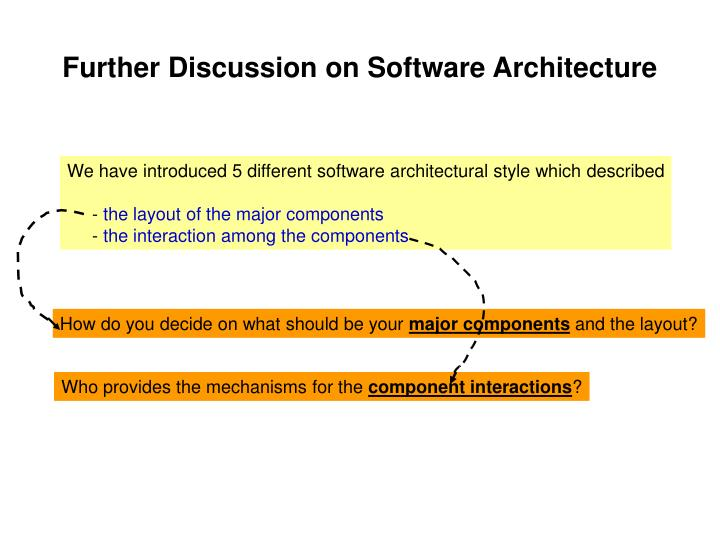 Further Discussion on Software Architecture