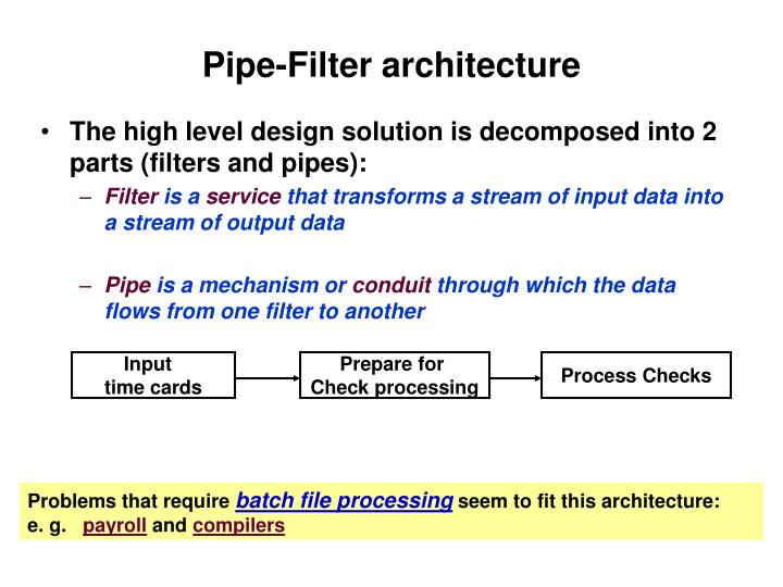 Pipe-Filter architecture