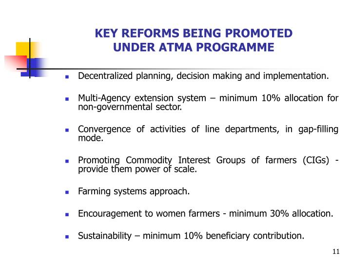 KEY REFORMS BEING