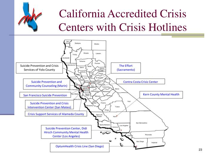 California Accredited Crisis Centers with Crisis Hotlines