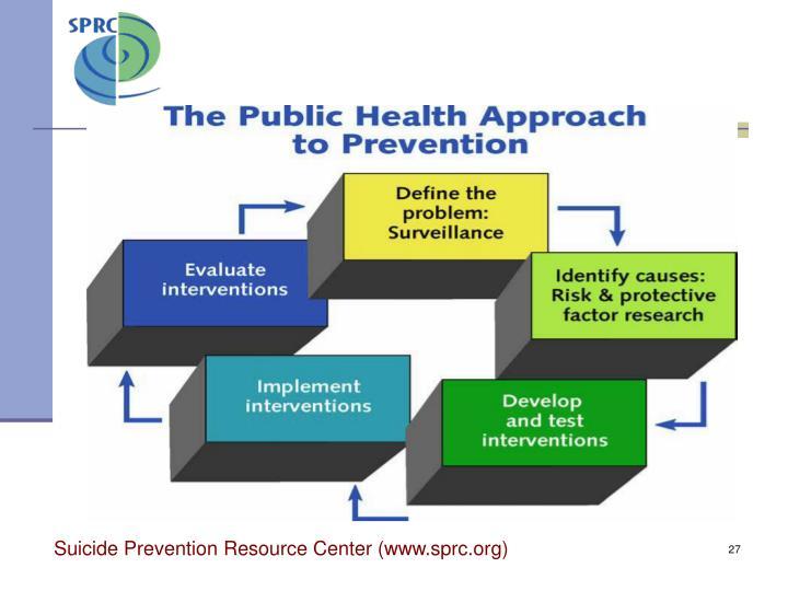 Suicide Prevention Resource Center (www.sprc.org)