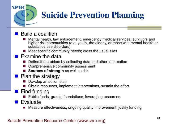 Suicide Prevention Planning