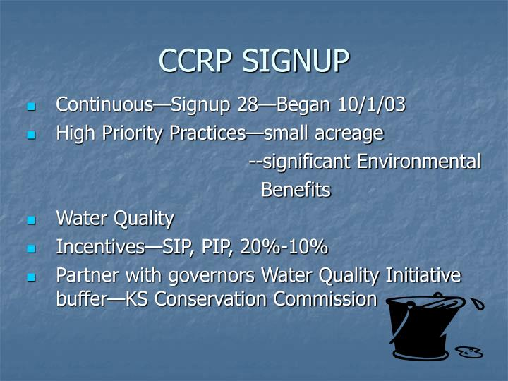 CCRP SIGNUP