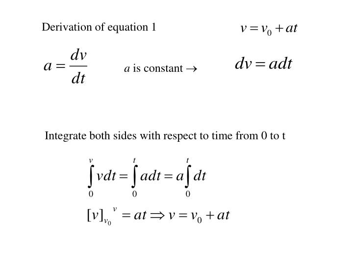 Derivation of equation 1