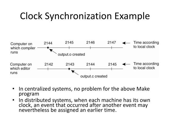 Clock Synchronization Example