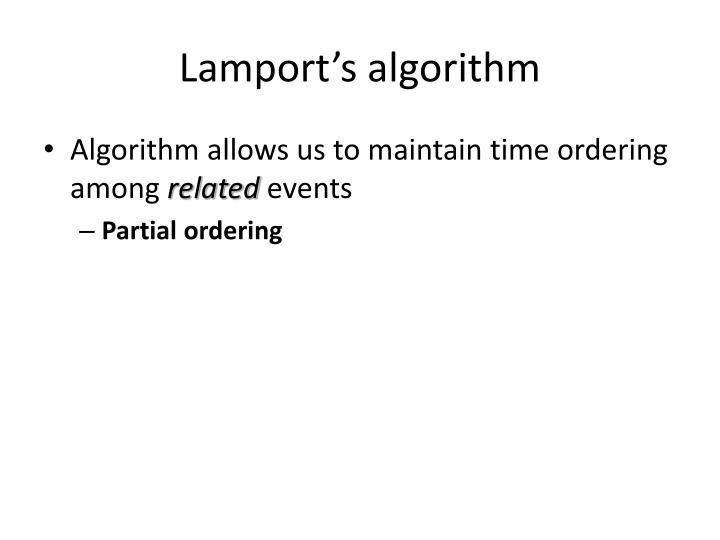 Lamport's algorithm