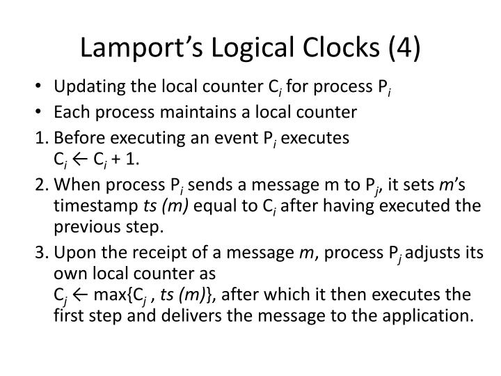 Lamport's Logical Clocks (4)