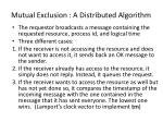 mutual exclusion a distributed algorithm