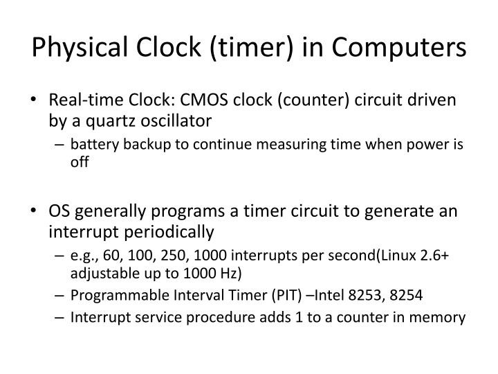 Physical Clock (timer) in Computers