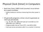 physical clock timer in computers