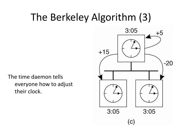 The Berkeley Algorithm (3)