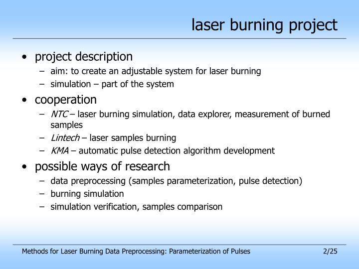 laser burning project