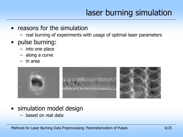 laser burning simulation