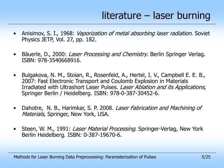 literature – laser burning