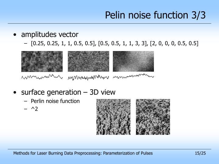 Pelin noise function