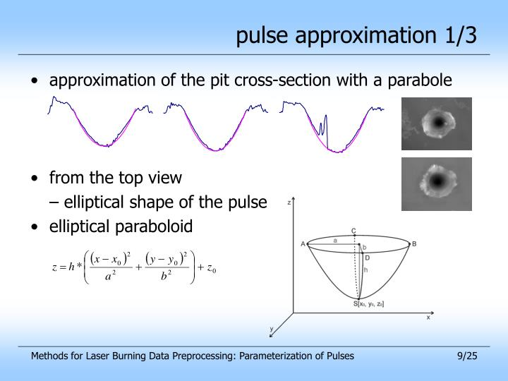 pulse approximation 1/3