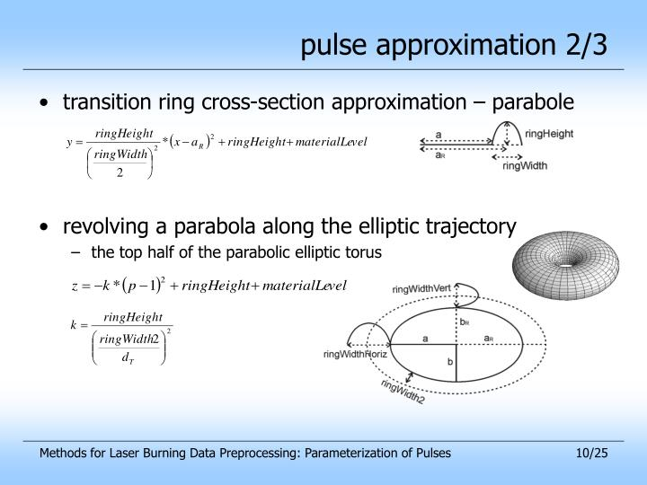 pulse approximation 2/3